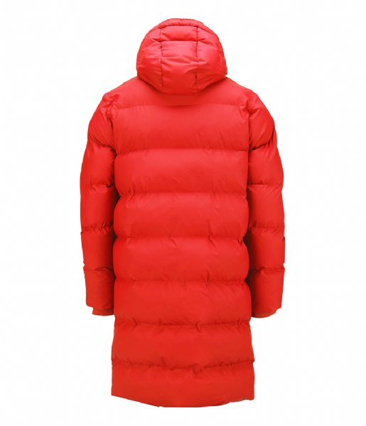 Rains Winterjas Long Puffer Jacket red (08)