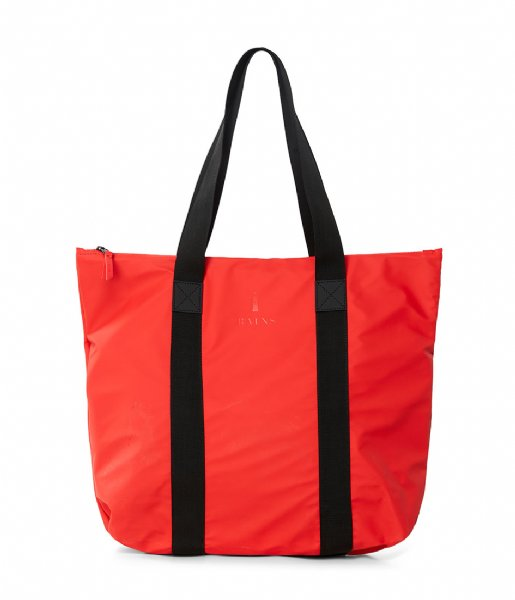 Rains Strandtas Tote Bag Rush red (08)