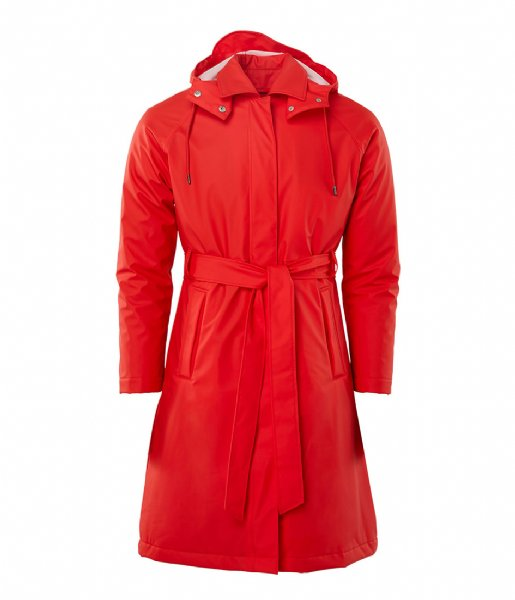 Rains Regenjas W Trench Coat red (08)