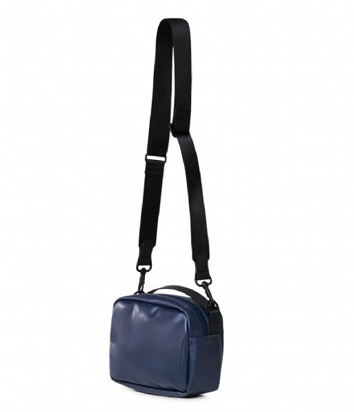 Rains Crossbodytas Box Bag Shiny Blue (07)