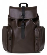 Rains Oversize Rucksack Shiny Brown