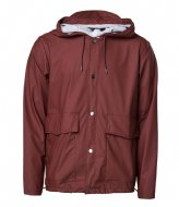 Rains Short Hooded Coat 11 Maroon