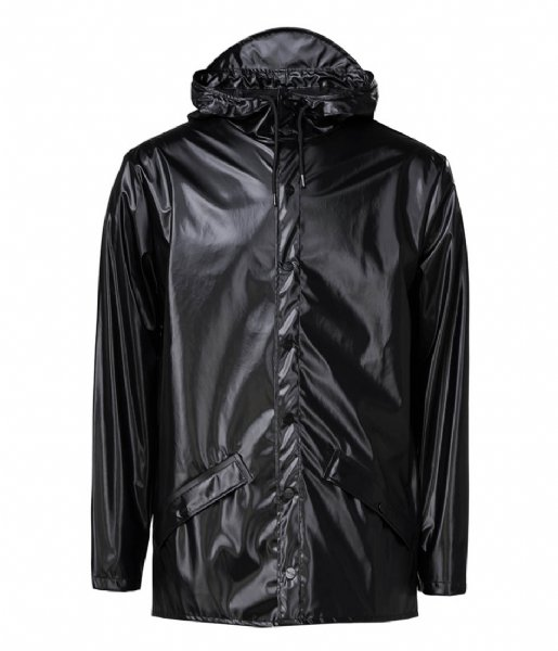 Rains Regenjas Jacket Shiny Black (76)
