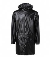 Rains Long Jacket 76 Shiny Black