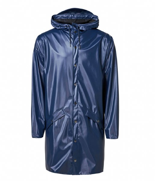 Rains Regenjas Long Jacket Shiny Blue (07)