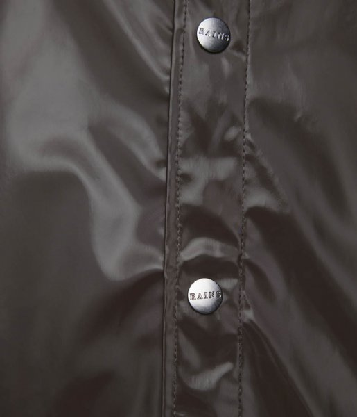 Rains Regenjas Long Jacket Shiny Brown
