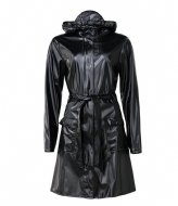 Rains Curve Jacket 76 Shiny Black