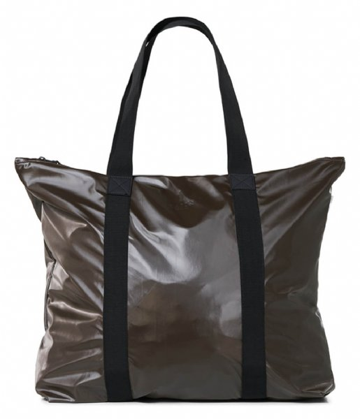 Rains Strandtas Tote Bag Shiny Brown