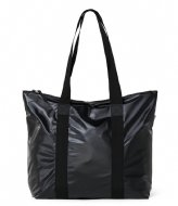 Rains Tote Bag Rush Shiny Black (76)