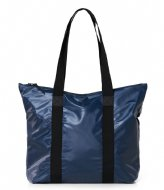Rains Tote Bag Rush Shiny Blue (07)