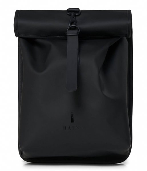 Rains Dagrugzak Rolltop Mini Black (01)