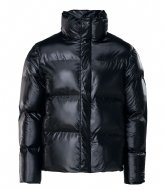 Rains Boxy Puffer Jacket 76 Shiny Black