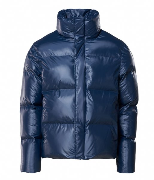 Rains Regenjas Boxy Puffer Jacket 07 Shiny Blue
