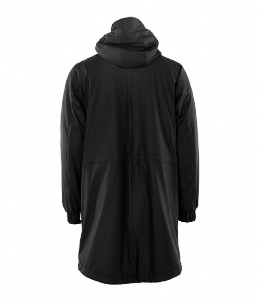 Rains Regenjas Long Quilted Parka black (01)