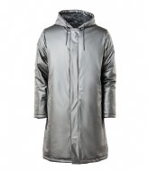 Rains Padded Coat metallic charcoal (15)