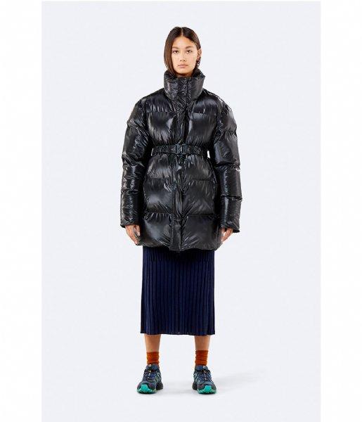 Rains Winterjas Puffer Coat shiny black (76)