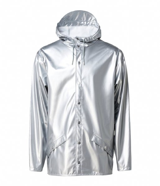 Rains Regenjas Jacket silver colored (12)