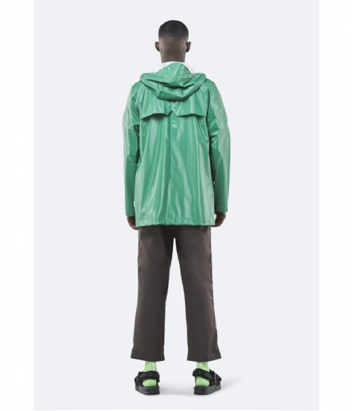 Rains Regenjas Short Coat shiny grass