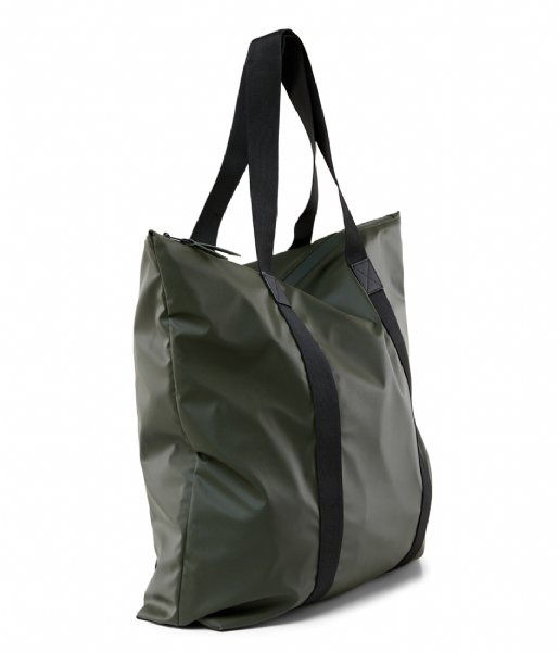 Rains Strandtas Tote Bag green (03)