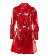 Rains Transparant Belt Jacket glossy red (39)