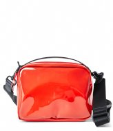 Rains Transparant Box Bag glossy red (39)