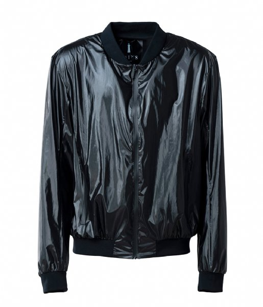 Rains Winterjas City Bomber Jacket shiny black (76)
