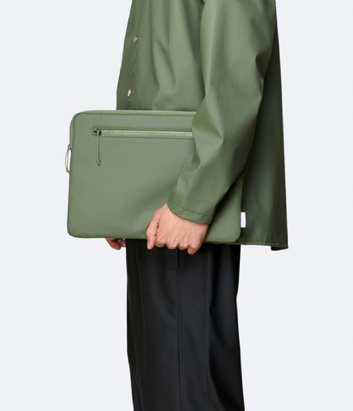 Rains Laptop sleeve Laptop Cover 13 Inch Olive (19)