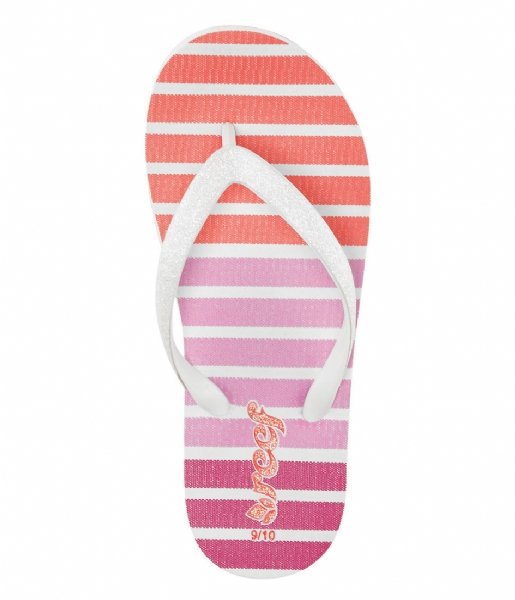 Reef Slippers Kids Flip Flops Little Stargazer Print coral stripe