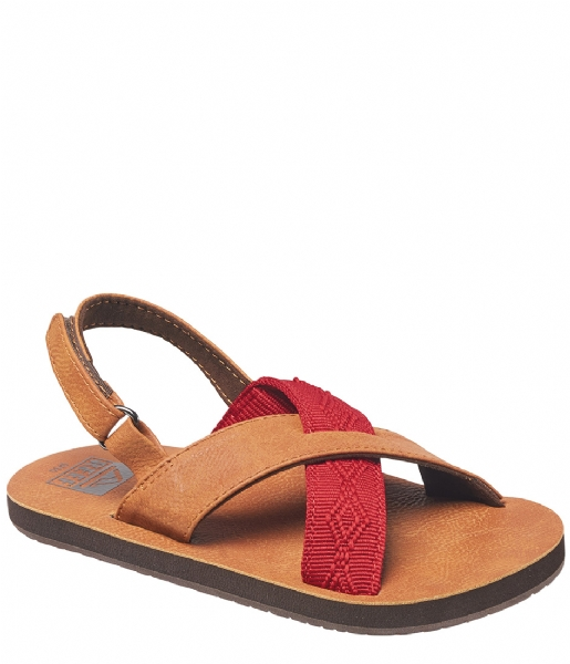 Reef Slippers Grom Crossover brown red