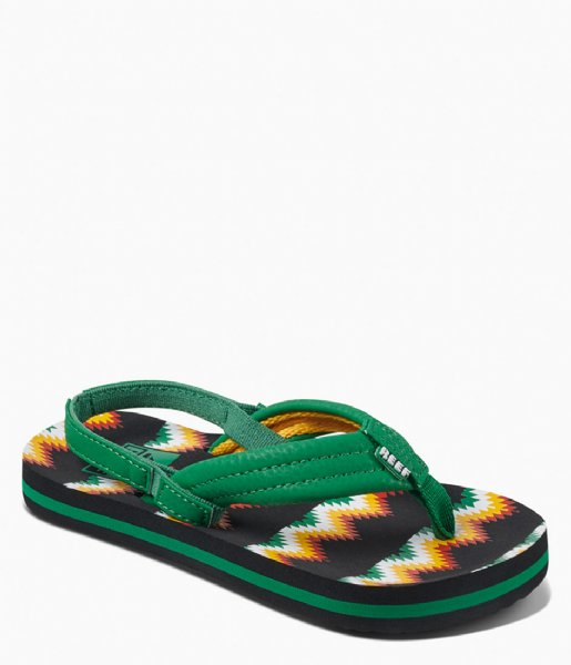 Reef Slippers Little Ahi black green