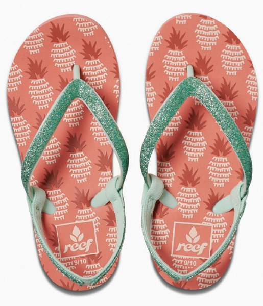 Reef Slippers Little Stargazer prints pineapple