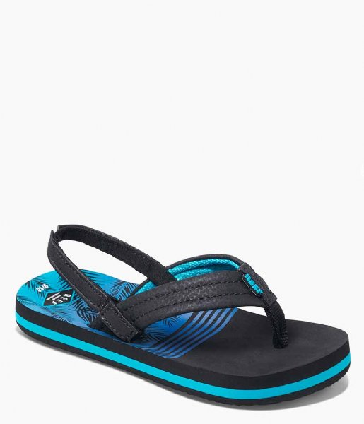 Reef Slippers Little Ahi aqua palms