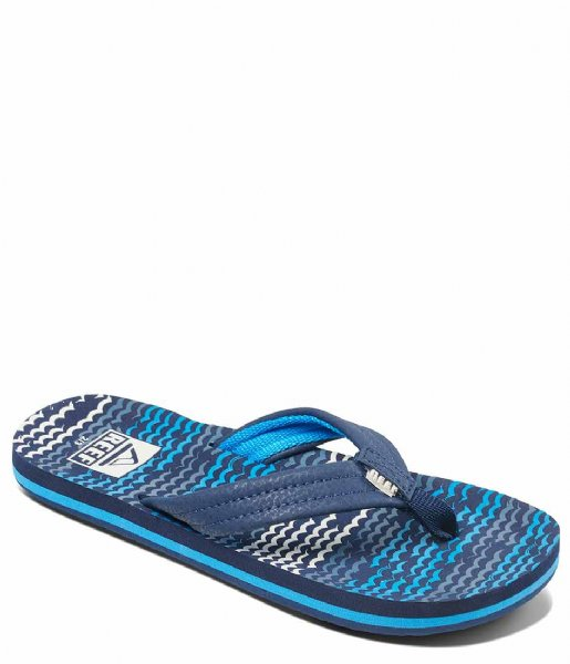 Reef Slippers Kids Ahi blue horizon waves