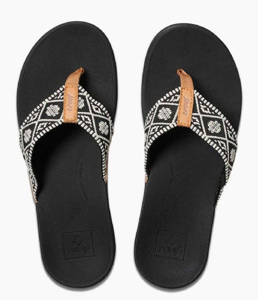 Reef Slippers Reef Ortho Bounce Woven black white