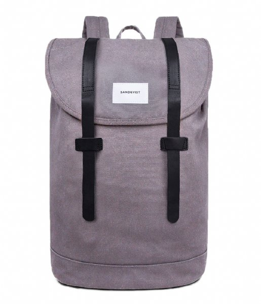 Sandqvist Laptop rugzak Backpack Stig Large 15 Inch grey grey (1051)