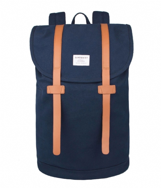 Sandqvist Laptop rugzak Backpack Stig Large 15 Inch blue (717)