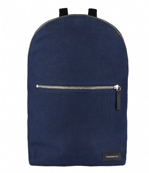Sandqvist Laptop rugzak Backpack Alfons 13 Inch blue (742)
