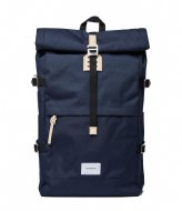 Sandqvist Bernt 13 Inch navy with natural leather (1373)