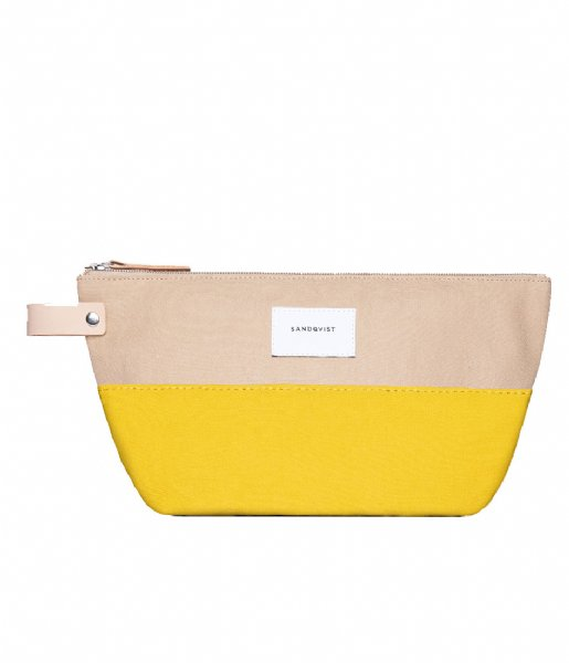 Sandqvist Etui Cleo multi yellow with natural leather (1236)