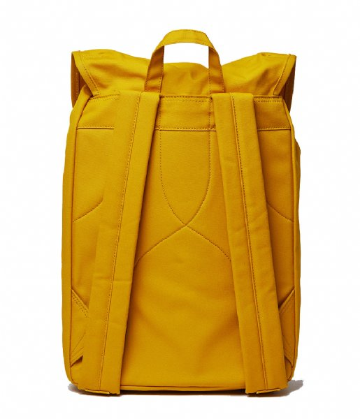 Sandqvist Dagrugzak Roald yellow with natural leather (1254)