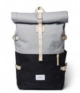 Sandqvist Bernt Multi Grey/Black with natural leather (SQA1560) Q3