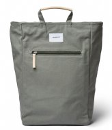 Sandqvist Tony 13 Inch Dusty green with natural leather (SQA1585) Q3-20