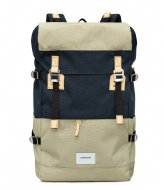 Sandqvist Harald 13 Inch multi beige navy with natural (1041)