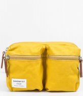 Sandqvist Paul yellow with cognac brown leather (877)