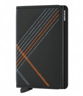 Secrid Slimwallet Stitch Linea Matt Base orange