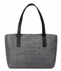 Fred de la Bretoniere-Handtassen-Summer Bag Medium Natural Woven-Zwart