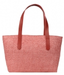 Fred de la Bretoniere-Handtassen-Summer Bag Medium Natural Woven-Rood