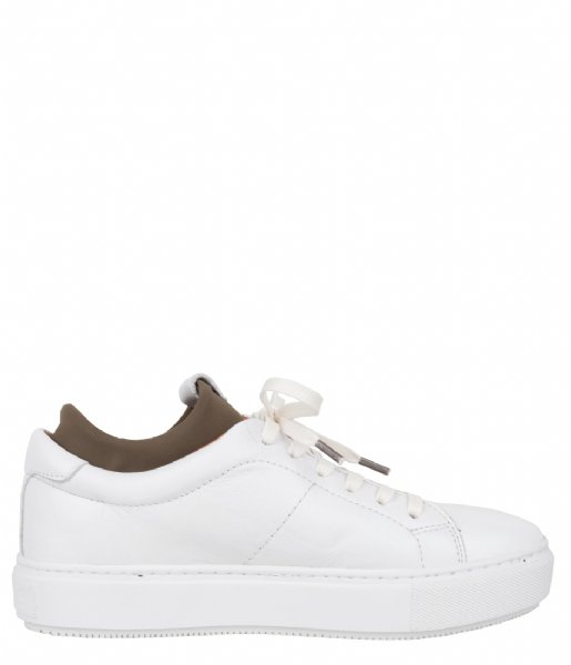 Shabbies Sneakers Sneaker Low Smooth white olive
