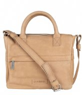Shabbies Handbag Medium Waxed Grain beige