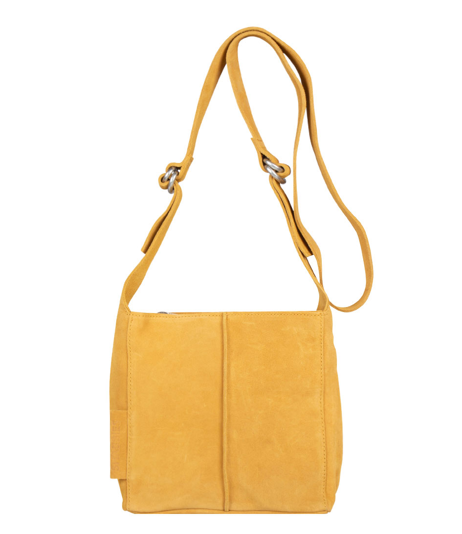 Shoulderbag Small Suede yellow Shabbies | The Little Green Bag